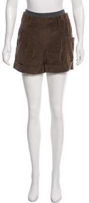 Brunello Cucinelli Corduroy Mini Shorts