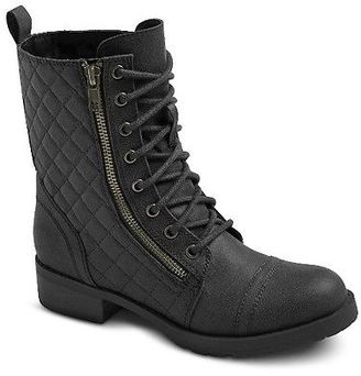 Women's Carmen Quilted Ankle Combat Boots - Mossimo Supply Co. $37.99 thestylecure.com
