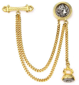 Ben-Amun Double Chain Coin Brooch