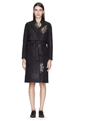 Lanvin Embroidered Jacquard Trench Coat