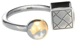 Bottega Veneta Silver and cubic zirconia ring