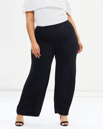 Evans Plain Ity Wide Leg Pants