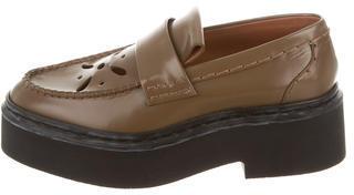 CelineCéline Laser Cut Flatform Loafers w/ Tags