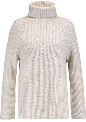Line Uma Marled Ribbed-Knit Turtleneck Sweater