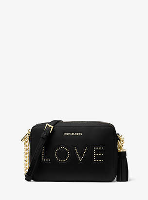 Michael Kors Ginny Love Leather Crossbody