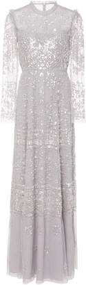 Needle & Thread Aurora Sequin Tulle Gown