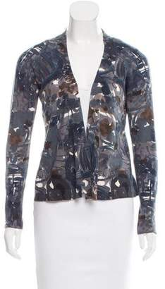 Marni Abstract Print Open Front Cardigan