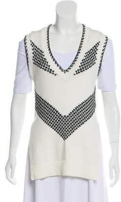 Thakoon Knit V-Neck Sweater Vest