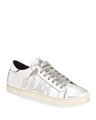 P448 John Lace-Up Metallic Leather Sneakers