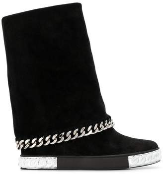 Casadei chain trimmed boots