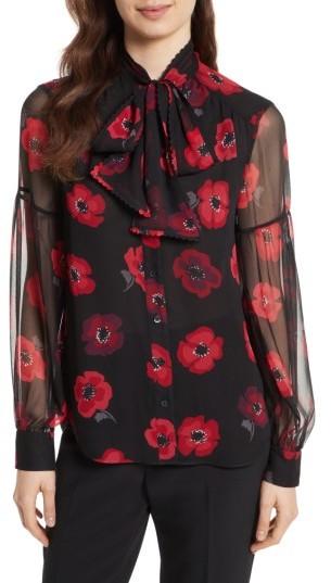 Women's Kate Spade New York Poppy Chiffon Bow Blouse