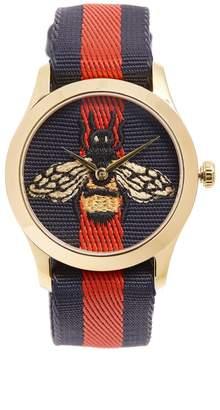 Gucci G-Timeless Web-striped watch