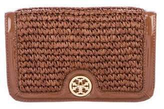 Tory Burch Straw Turnlock Clutch