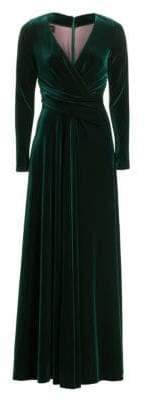 Talbot Runhof Long Sleeve Velvet Gown