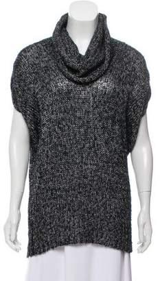 Alice + Olivia Metallic Cowl Neck Sweater