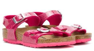 Birkenstock Kids buckled glitter sandals