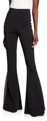 Cushnie Cady High-Waist Flare Pants