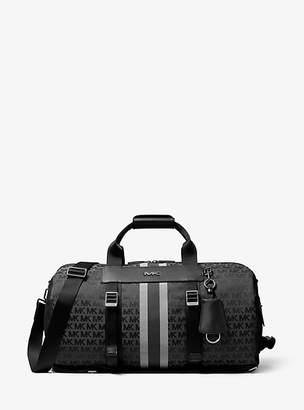 Michael Kors Brooklyn Logo Jacquard Convertible Duffel Bag