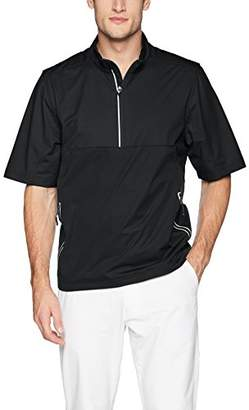 Cutter & Buck Men's Weathertec Waterproof Short Sleeve Fairway Half Zip Pullover