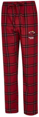 Concepts Sport Men Miami Heat Homestretch Flannel Sleep Pants