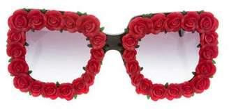 Dolce & Gabbana Rose-Embellished Sunglasses