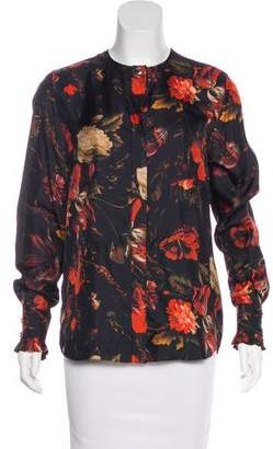 Givenchy Floral Silk Top