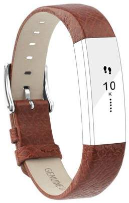 Fitbit iGK Alta Bands Leather Alta HR Bands Adjustable Replacement Sport Strap Band for Alta HR Accessory (Cross Pattern Brown)