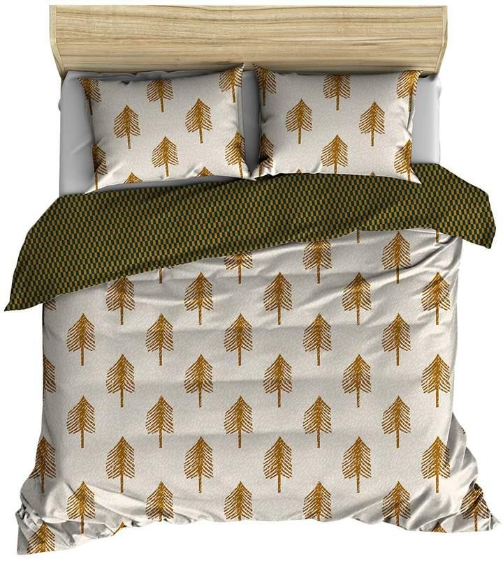 Bettdecken-Set Aus Baumwolle Mit Baumdruck