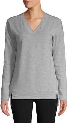 ST. JOHN'S BAY SJB ACTIVE Active Womens V Neck Long Sleeve Tunic Top