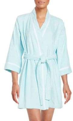 Kate Spade Embroidered Terry Short Robe