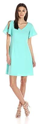 Adrianna Papell Women's Cameron Cold Shoulder Dress