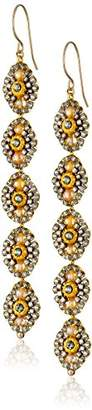 Miguel Ases 14k Gold-Filled Crystal Drop Earrings
