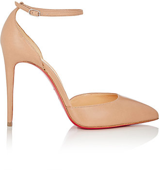 Christian Louboutin Women's Uptown Ankle-Strap Pumps $845 thestylecure.com