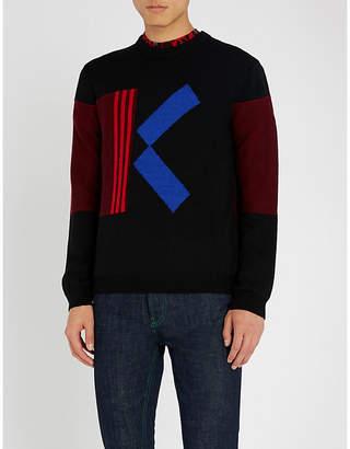 Kenzo K logo wool-blend knit jumper