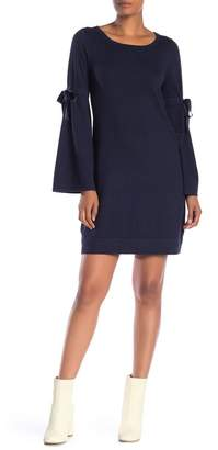 Max Studio Tie Sleeve Knit Dress