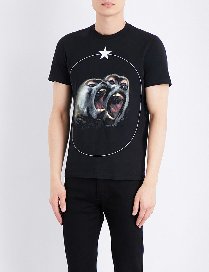 Givenchy Twin Monkey cotton-jersey T-shirt 2