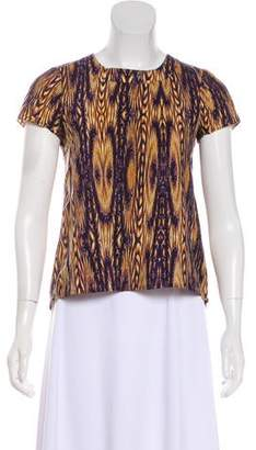 Gryphon Short Sleeve Printed Top