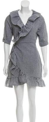 Storets Danielle Checked Wrap Dress w/ Tags