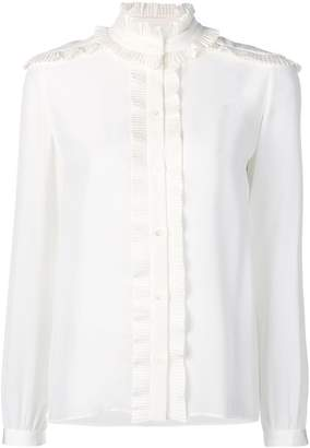 Vanessa Seward frilled band collar blouse