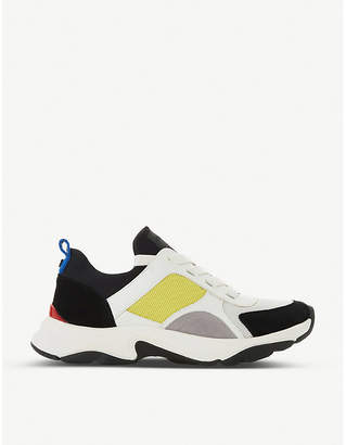 Dune Eiffel lace-up neoprene trainers