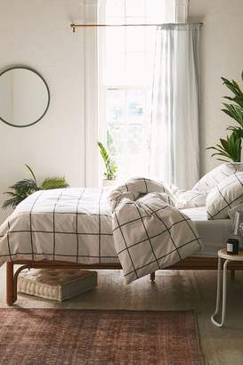 Distressed Check Duvet Set
