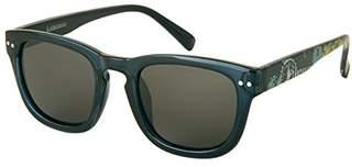 Margaritaville Landshark Horn Rimmed Square Polarized Wayfarer Sunglasses