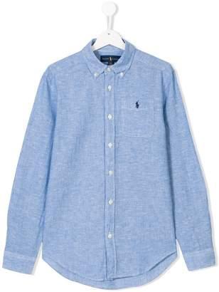 Ralph Lauren Teen logo embroidered shirt