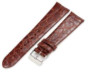 Artisan of Italy CITG500-0320MR Men's Classic Ultra-Thin Crocodile 20mm Tan Watch Strap