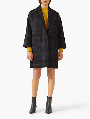 Shadow Check Coat, Charcoal