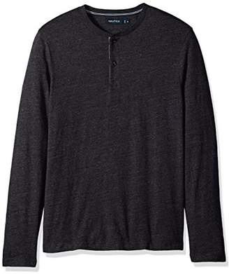 Nautica Men's Long Sleeve 3 Button Henley Shirt