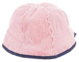 Catimini Girls' Striped Logo Hat