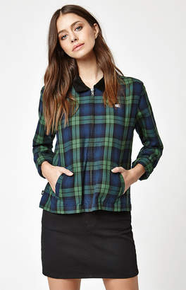 Obey Maddy Zip Flannel Jacket