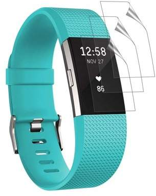 EEEkit 3 Pack Fitbit Charge 2 Screen Protector, Ultra-thin HD Clear Full Coverage Film Guard