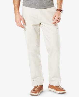 Dockers Men Utility Cargo Classic Fit Stretch Khaki Pants